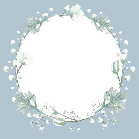 Flower illustration on white background, wedding invitation card, save the date card, greeting card, valentine card Stock Illustration - 123954707