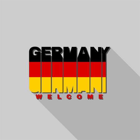 federal republic of germany: Federal Republic of Germany flag of the letters typography, t-shirt graphics, flat design. Illustration