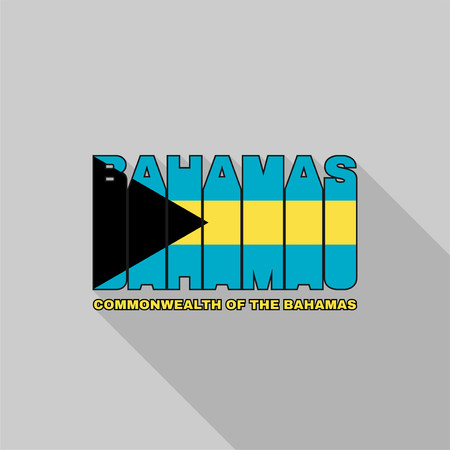 commonwealth: Commonwealth of The Bahamas flag of the letters typography, t-shirt graphics, flat design.