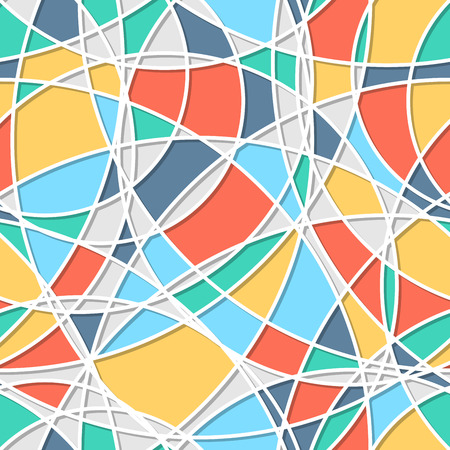 rotund: Seamless pattern of circles. Trendy  texture. Endless stylish backdrop. Colorful lines and shapes. Cloth design, wallpaper, wrapping Illustration