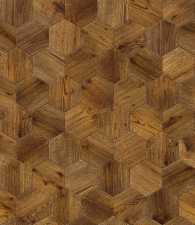 Natural wooden background honeycomb, grunge parquet flooring design seamless texture for 3d interior