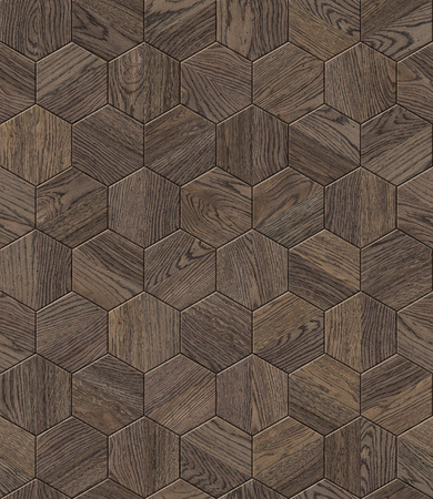 Natural wooden background honeycomb, grunge parquet flooring design seamless texture for 3d interior