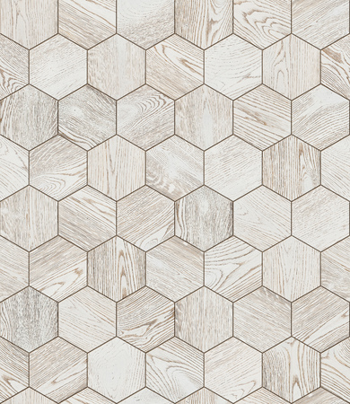Natural wooden background honeycomb, grunge parquet flooring design seamless texture Фото со стока