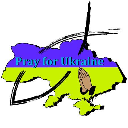 supplication: Ukraine, fish, pray for Ukraine
