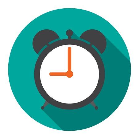 Alarm Clock in flat vector illustration Vectores