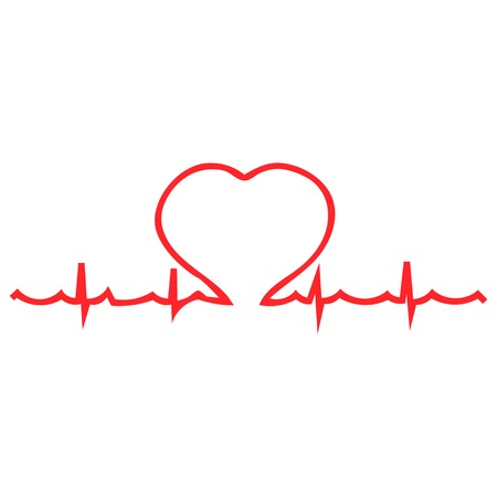 palpitations: Heart palpitations pulse vector illustration Illustration