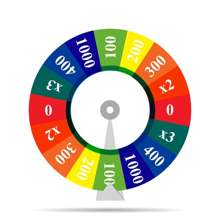 game wheel: color wheel luck vector illustration