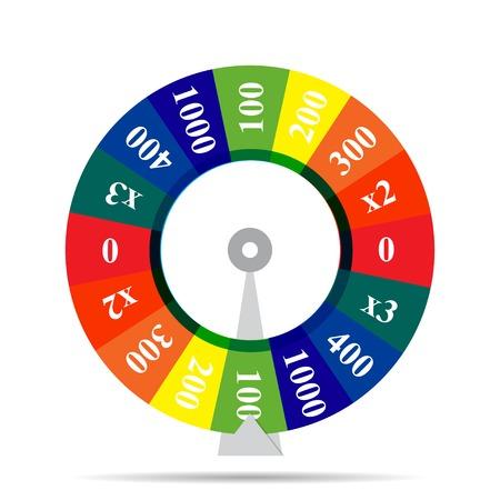 rueda de la fortuna: rueda de color ilustración vectorial suerte Vectores