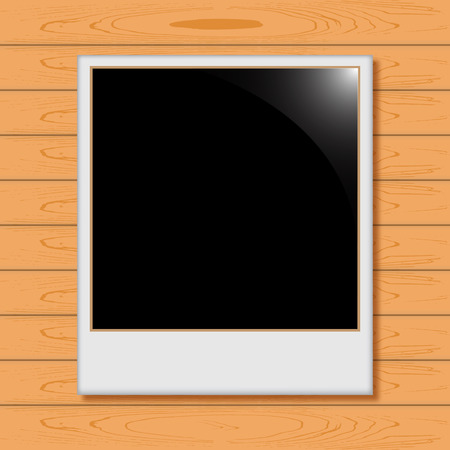 parquetry: Photo Frame with shadow on the board Illustration