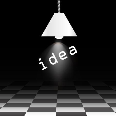 checkerboard: The idea of a black checkerboard floor