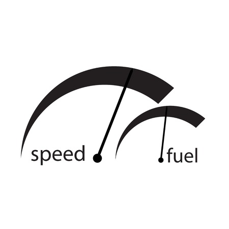 indicators: Indicators for the fuel velocity and white background