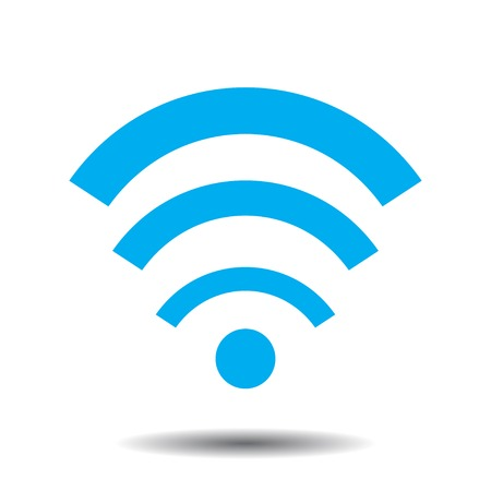 Wi fi icon with shadow  イラスト・ベクター素材