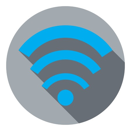 wi fi icon: Flat icon Wi fi Illustration
