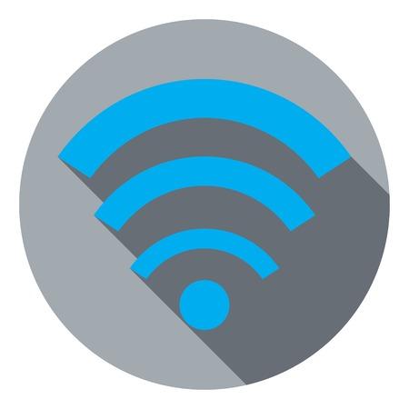 wi fi: Flat icon Wi fi Illustration