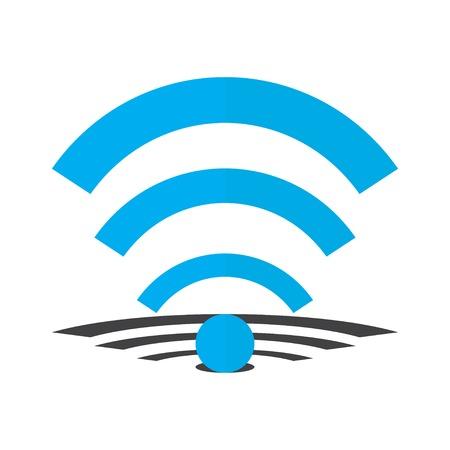 wi fi: Wi fi Icon with shadow object