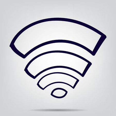 wi: Wi fi icon with shadow, access