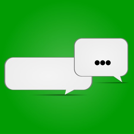 conversational: conversational icons on a green background