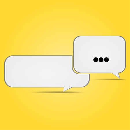 conversational: Icons conversational on a yellow background Illustration