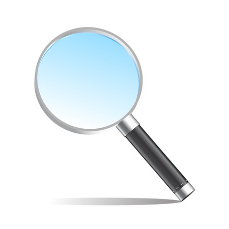 low scale: Realistic magnifier magnifying glass vector illustration