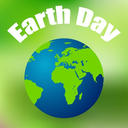 Earth Day on April 11 colored background vector Vector