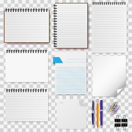 Een set van briefpapier, notitieblokken vector illustratie