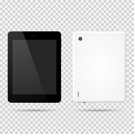 Tablet front, backside vector illustration