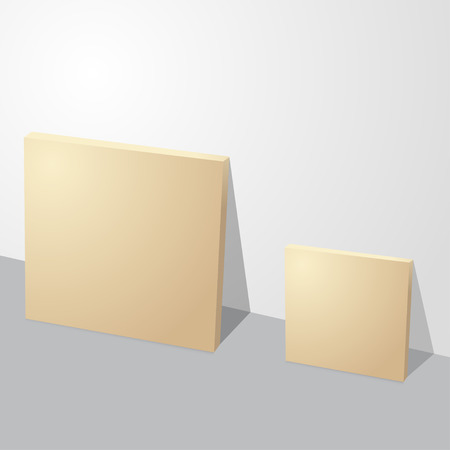 Thin two cardboard paper boxes illustration Vector