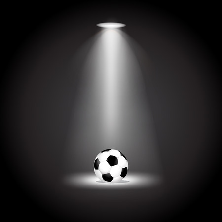Soccer ball under the lights vector illustration 版權商用圖片 - 39707807
