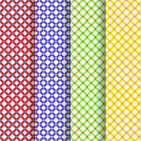 Set of four beautiful patterns vector Vector