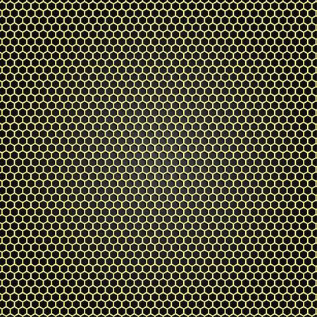 kratka: Żółty metal kratka plaster miodu wektor