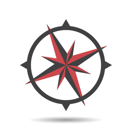 arrow sign: Icon compass vector illustration