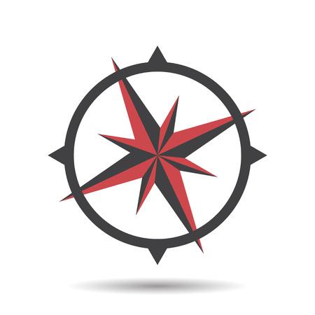 flecha direccion: Icono de la ilustraci�n vectorial br�jula