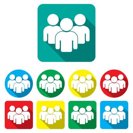 grupo de pessoas: Grupo pessoas, �cones set ilustra��o vetorial trabalho em equipe Ilustra��o