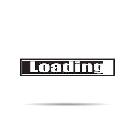 Loading icon vector illustration with shadow Vector