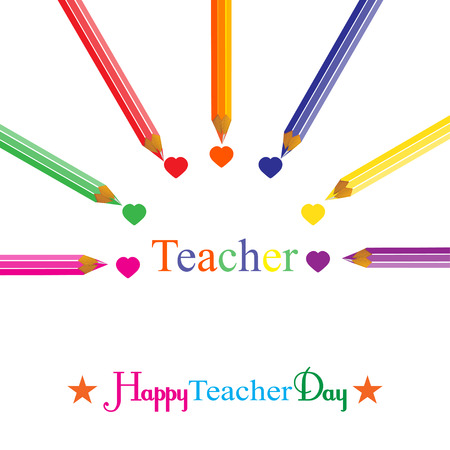 school days: Colorful background on Teachers Day vector illustration