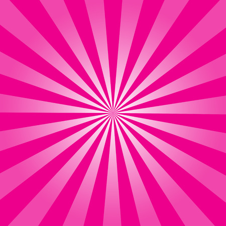 hot pink: Pink ray retro background vector illustration