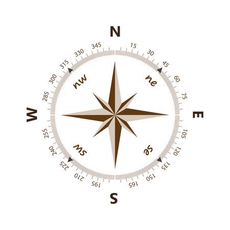 north star: Compass icon vector illustration Illustration