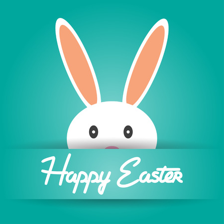 Happy Easter holiday background vector illustration Vector