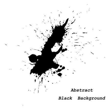 inky: Big inky patch vector illustration abstract background