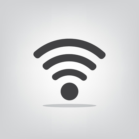 fi: Wi fi icon on a gray background vector