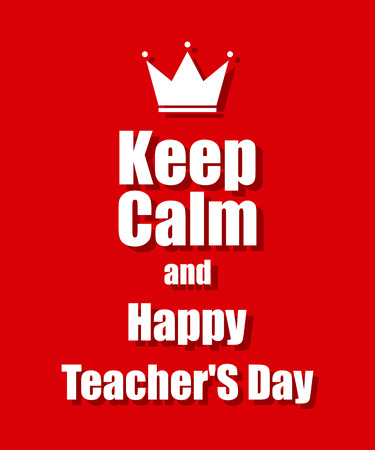 Teachers Day background with a red background Vector
