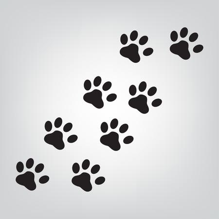 huellas de perro: La pata icono de ilustración vectorial Vectores