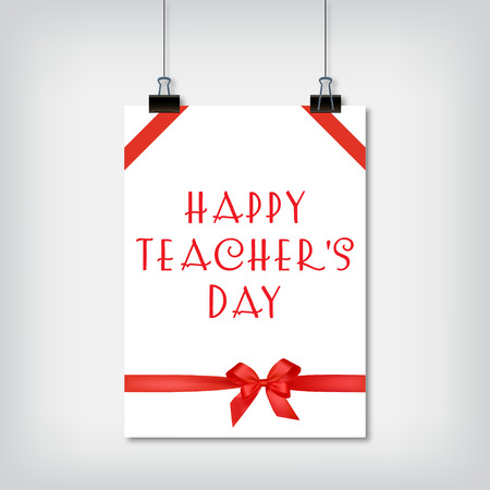teachers: Stylish background for the holiday Teachers Day vector illustration Illustration