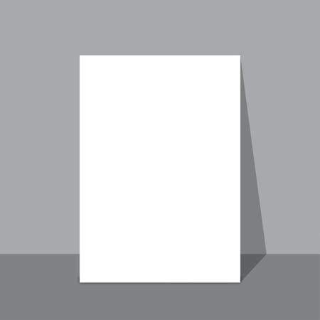stale: Stale piece of paper on the wall with shadow vector