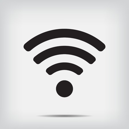 wi fi icon: Wi fi icon on a gray background vector