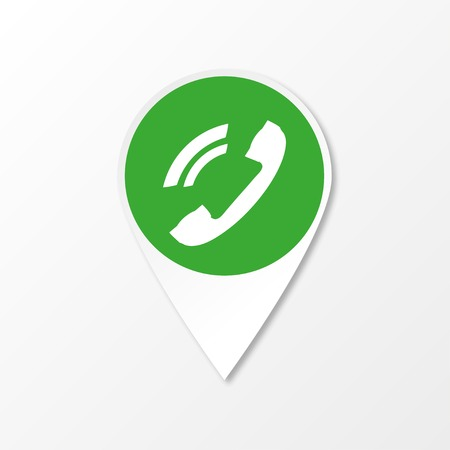 green it: The green phone icon label it vector illustration
