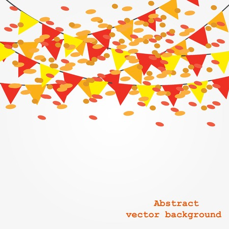 Background with garlands vector illustration Vector