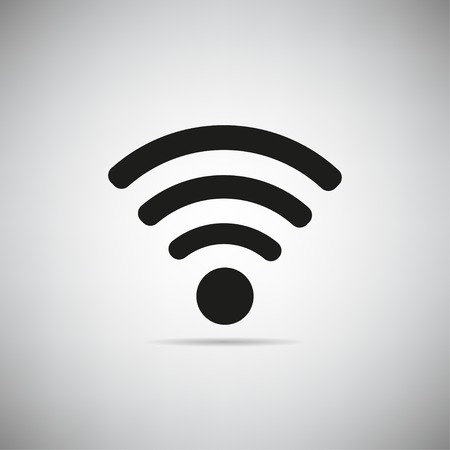 Wifi icon on grey background vector illustration