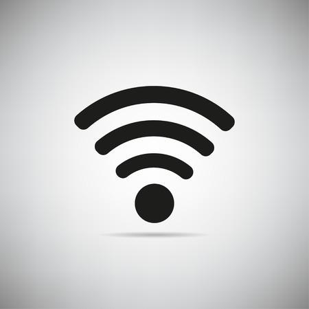 Wifi-pictogram op een grijze achtergrond vector illustratie