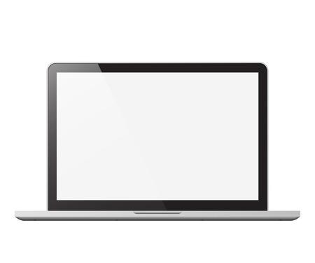 laptop isolated vector illustration
